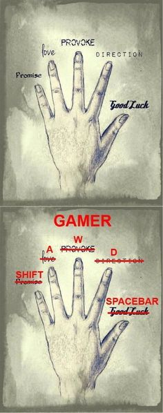 Gamers will know This this and a thousand times this. Sorry, console gamers, I love you guys with all my heart, but the Boss is a PC gamer for life. Video Game Memes, Funny Games, Video Games Funny, Geek Culture, Videogames, Nerdy, Funny Pictures, Geek Stuff, Fingers