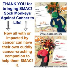 There is no possible way to thank everyone enough for helping to bring the SMAC! monkeys to life. Whether you pledged or spread the word, you played a big part in the campaign's success. Please share this with your friends to give them the BIGGEST thank you possible...and tell them the awesome update that SMAC! is now a GO! YES. YES. YES. Cancer Fighter, First Love, My Love, Colon Cancer, Dialysis, Monkeys, Thoughtful Gifts, Illustrations Posters, Bring It On