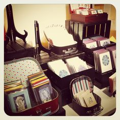 Cute, I could use something like this for prints! Practicing my spring craft fair setup by Pressbound, via Flickr