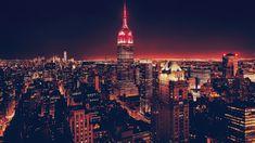 Wallpaper Empire State Building, Cityscape, Usa, Night