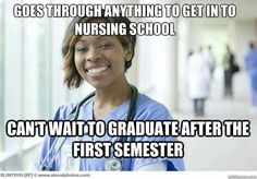 Cannot wait to graduate, that starts the first day of nursing school!!