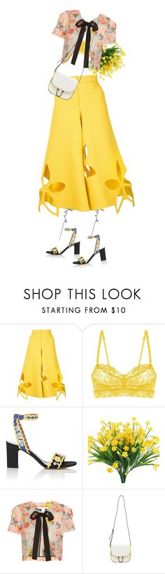"""""""Untitled #129"""" by immyowndoll ❤ liked on Polyvore featuring Rosie Assoulin, Cosabella, Tabitha Simmons and Oscar de la Renta"""