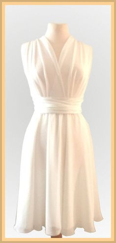 Infinity Dress two layers with chiffon in offwhite by Innesaline