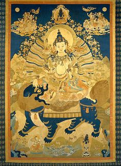"""Teaching of Manjushri, bodhisattva of Transcendent Wisdom - """"Contemplate the five skandhas as originally empty and quiescent, non-arising, non-perishing, equal, without differentiation. Constantly thus practicing, day or night, whether sitting, walking, standing or lying down, finally one reaches an inconceivable state without any obstruction or form. This is the Samadhi of One Act."""""""