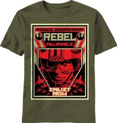 Join the Rebel Alliance, I did-Red Five checking in...Star Wars Rogue Squadron t-shirt men military green
