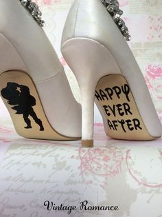 Disney wedding day shoe sole vinyl decals / by vintageromance2015... Sammi?