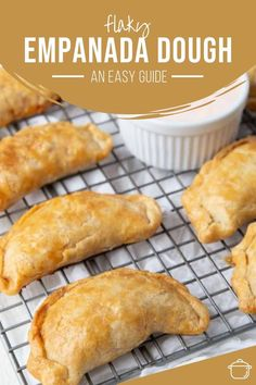 Flaky Empanada Dough Recipe, Empanadas Dough For Frying, Pastry Dough Recipe, Mexican Food Recipes, Mexican Dishes, Mexican Sweet Empanadas Recipe, Savory Empanadas Recipe, Dessert Empanadas Recipe, Recipes
