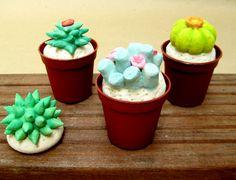 les cactus en pâte à sel