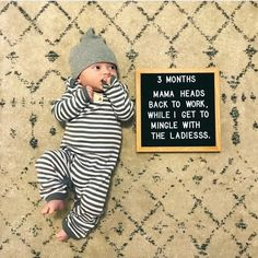 Everyday Solutions For Any Home Based Business 3 Month Old Baby Pictures, Monthly Baby Photos, Milestone Pictures, Cute Baby Pictures, Newborn Pictures, Monthly Pictures, Baby Letters, Felt Letters, Newborn Picture Outfits