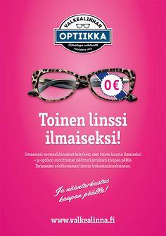 Campaign design for Valkealinnan Optiikka My Design, Graphic Design, Industrial Design, Round Sunglasses, Campaign, Industrial By Design, Round Frame Sunglasses, Visual Communication