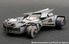 Batman - 2015 Batmobile Free Vehicle Paper Model Download - http://www.papercraftsquare.com/batman-2015-batmobile-free-vehicle-paper-model-download.html
