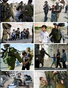 "Arrested of Many Palestinian Children by Zionist Army ""Israeli Army"""
