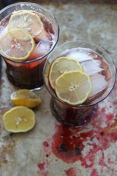 Roasted cherry bourbon smash