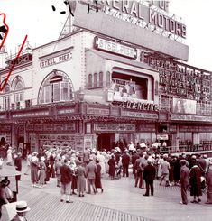 The Steel Pier in Atlantic City, NJ during its heyday.