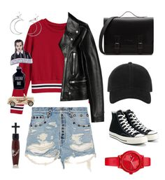 """""""Eat me"""" by pastelgothandmore on Polyvore featuring Gucci, Yves Saint Laurent, Converse, rag & bone, Tommy Hilfiger, Ana Accessories, Manic Panic NYC and Erstwilder"""