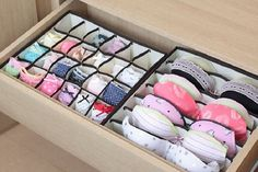 Seriously Life-Changing Clothing Organization Tips Bra Underwear Drawer Organization.I need this! I have more bras than I can deal withBra Underwear Drawer Organization.I need this! I have more bras than I can deal with Organisation Hacks, Storage Organization, Clothing Organization, Bedroom Organization, Organizing Ideas, Smart Storage, Lingerie Organization, Storage Boxes, Organizing Drawers