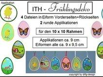 ITH-Stickdateien Frühlingsdeko für 10x10Rahmen