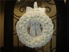 Wedding wreath - daisies and cyrstals