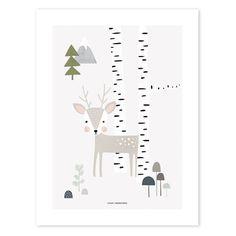 Lilipinso ontwerpt fantasievolle posters en muurstickers voor de baby- en kinderkamer. Deze poster staat erg leuk in de babykamer of de bos kinderkamer.