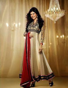 Golden Color Designer #anarkali Suits