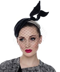 Fashion hat Coco Headpiece (with veil)