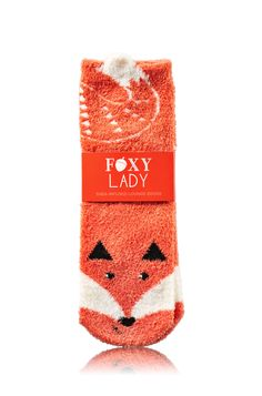 Bath & Body Works Fox Shea-Infused Lounge Socks   No sly patches here! Our Shea-Infused Socks provide rich moisture & ultimate comfort for your tired toes. Shea butter lasts up to 25 washes so you can kick back and relax again & again!