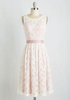 $79, Lacy in Love Dress in Blush - White, Blush, Lace, Belted, Wedding, Daytime Party, Graduation, Bridesmaid, Valentine's, Vintage Inspired, Fairytale, A-line, Sleeveless, Spring, Exclusives, Variation, Private Label, Pink, Pastel, Long, As You Wish Sale, Summer, Sweetheart