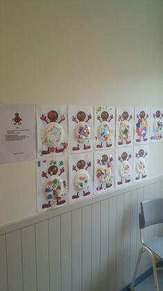 På Björken skapar vi Babblarna. Här är det Babba som barnen har gjort kalasfin då Babba ska gå på kalas Christmas Crafts, Crafts For Kids, Preschool, Decor, Crafts For Children, Decoration, Dekoration, Easy Kids Crafts, Kindergarten