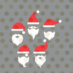 Santa Svg Santa Hat Svg Santa Hats and Beards Svg Christmas Svg Christmas Cut Files Digital Cutting File Winter Svg Christmas Vector by CinnamonAndLime from Cinnamon&Lime. Find it now at http://ift.tt/2eJSsgP!