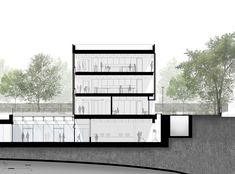 Image 17 of 20 from gallery of Arts Building for The American School in London / Walters & Cohen Architects. Section