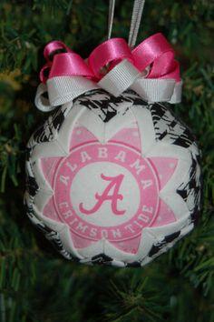 University of AlabamaPink Houndstooth folded star by craftinjenn, $9.99