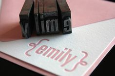 personalized letterpress cards