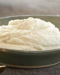 I've been making mashed cauliflower for years, but John Besh has an added step in his recipe. He puts the cooked florets in the oven for 5 minutes to dry out before mashing. Genius!.