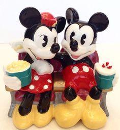 Mickey And Minnie Mouse Ceramic Figurine