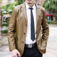 Genuine leather clothing male sheepskin genuine leather suit men s clothing slim leather jacket genuine leather. Click visit to buy