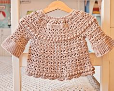 Crochet Cardigan Crochet PATTERN Bell Sleeve Cardigan sizes baby up to 6 Crochet Baby Blanket Beginner, Crochet Baby Cardigan, Baby Girl Crochet, Crochet Baby Clothes, Cardigan Pattern, Crochet For Kids, Baby Knitting, Crochet For Beginners, Baby Sweaters