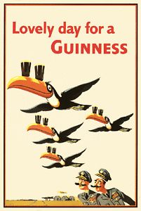 Lovely day for a Guinness Beer Advertising Poster # 10 Of A Series ,John Gilroy Vintage Advertising Posters, Vintage Travel Posters, Vintage Advertisements, Creative Advertising, Vintage Labels, Vintage Ads, Retro Ads, Poster Retro, Sous Bock