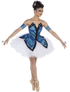 Wetlook metallic tie-dye bodice with black binding and a tulle, organdy and net euro skirt. Butterfly Costume, Butterfly Dress, Ballet Costumes, Dance Costumes, Special Dresses, Nice Dresses, Tutu Ballet, Fairy Shoes, Dance Dreams