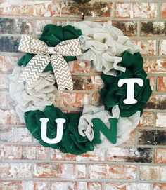A personal favorite from my Etsy shop https://www.etsy.com/listing/258685708/unt-university-of-north-texas-burlap