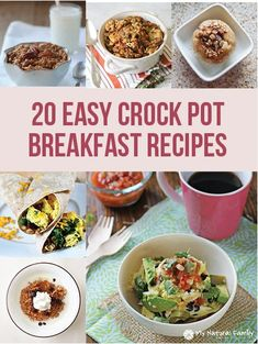 20 Easy Crock Pot Breakfast Recipes – Wake Up to A Delicious Meal! Breakfast Crockpot Recipes, Brunch Recipes, Slow Cooker Recipes, Cooking Recipes, Sunday Recipes, Crockpot Dishes, Supper Recipes, Oatmeal Recipes, Crockpot Meals