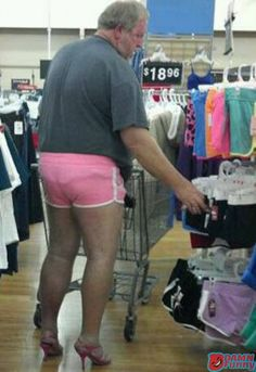 ou can never unsee this. LOOKS LIKE HE'S LOOKING FOR A NEW PAIR OF SHORTS....I THOUGHT I'D SEEN IT ALL AT WALMART BUT ONE NEVER KNOWS THAT'S WHY YOU SHOULD FOLLOW THIS BOARD FOR THE GREATEST PINS OF WALMART WIERDO'S AND CRAZIES...AC