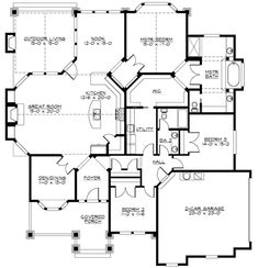 Plan Corner Lot, Northwest, Craftsman House Plans & Home Designs.needs some work but has some interesting features. Has real life photos of the plan. Craftsman Style House Plans, Dream House Plans, House Floor Plans, My Dream Home, Craftsman Homes, The Plan, How To Plan, Plan Plan, D House