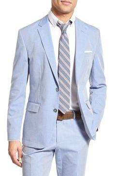 BOSS 'Justo-W' Trim Fit Solid Cotton Sport Coat