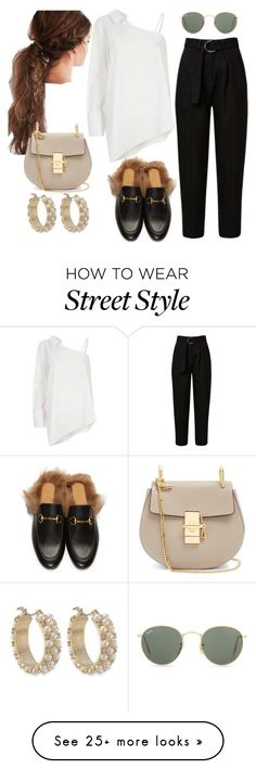 """STREET STYLE #003"" by kimtaelion on Polyvore featuring Gucci, River Island, Carolee, Chloé, Ray-Ban, gucci and chloe"