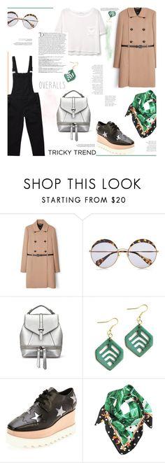 """Tricky Trend:: Overalls"" by sweetestdreamer ❤ liked on Polyvore featuring MANGO, Miu Miu, STELLA McCARTNEY, Dolce&Gabbana and Balmain"