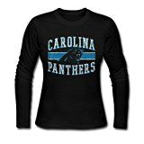 Carolina Panthers Team Honor Tee M Black For Women Long Sleeve