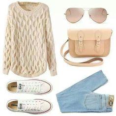 Me encanta!!! #Converse #Outfit