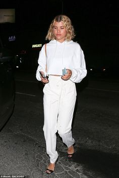 Hot spot: Sofia Richie was seen making her way into LA restaurant The Nice Guy on Friday night