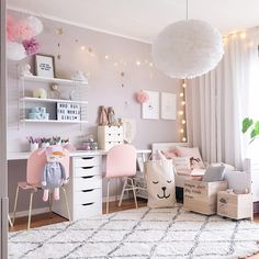 Girls Room Decor Ideas to Change The Feel of The Room Do you want to decorate a woman's room in your house? Here are 34 girls room decor ideas for you. Tags: girls room decor, cool room decor for girls, teenage girl bedroom, little girl room ideas Cool Room Decor, Bedroom Decor, Light Bedroom, Bedroom Lighting, Girls Room Wall Decor, Bedroom Furniture, Girl Decor, Master Bedroom, Girls Room Desk