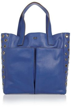 Anya Hindmarch blue tote with grommets